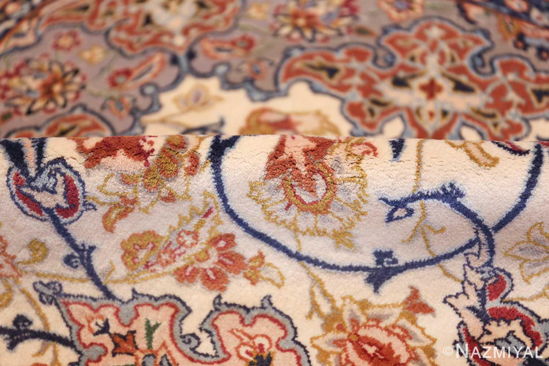 ivory background vintage isfahan persian rug 49599 pile Nazmiyal