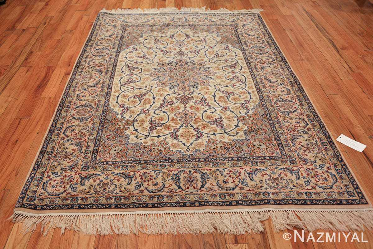 ivory background vintage isfahan persian rug 49599 whole Nazmiyal