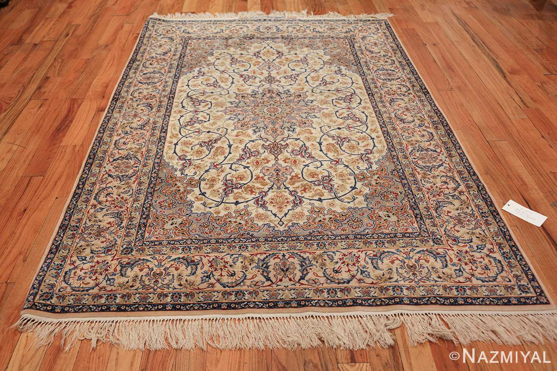 ivory background vintage isfahan persian rug 49599 whole Nazmiyal