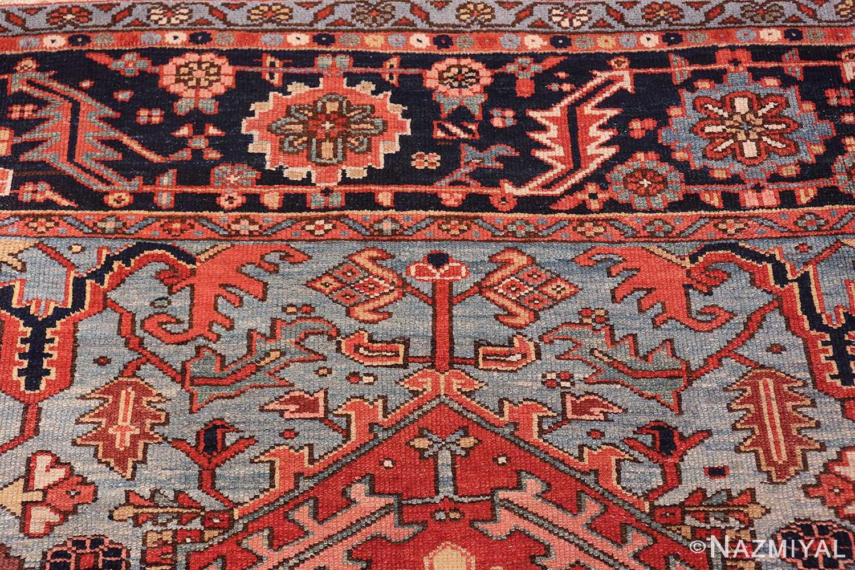 large antique geometric heriz persian rug 49654 blueNazmiyal