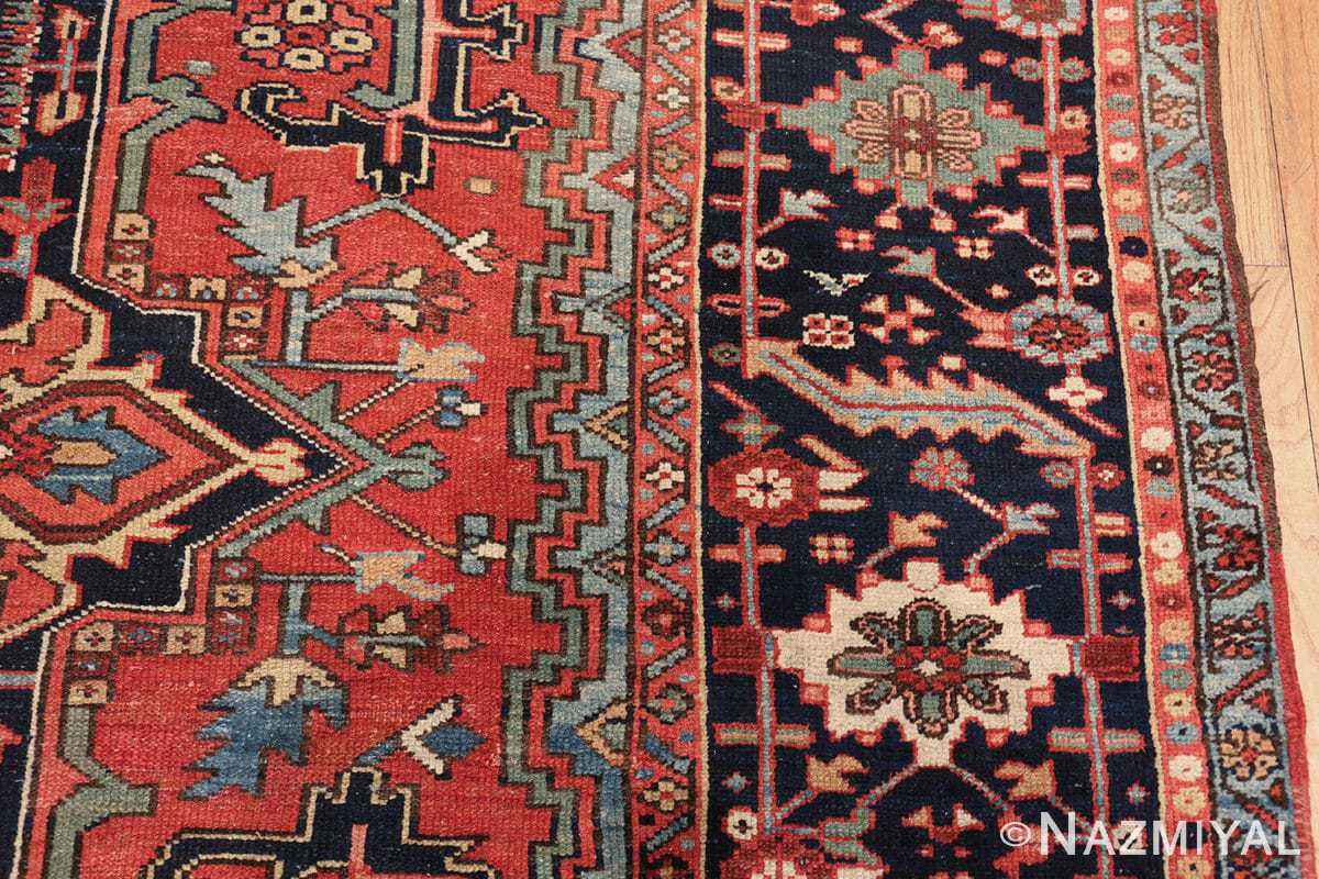 large antique geometric heriz persian rug 49654 border Nazmiyal