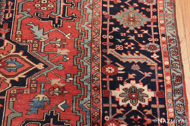 large antique geometric heriz persian rug 49654 border Nazmiyal