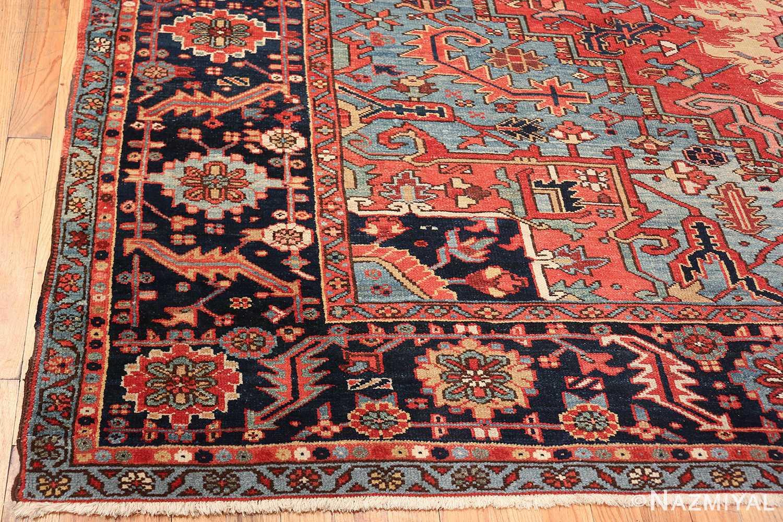 large antique geometric heriz persian rug 49654 corner Nazmiyal