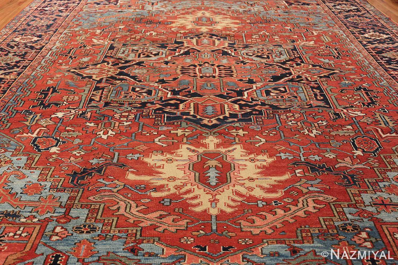 large antique geometric heriz persian rug 49654 field Nazmiyal