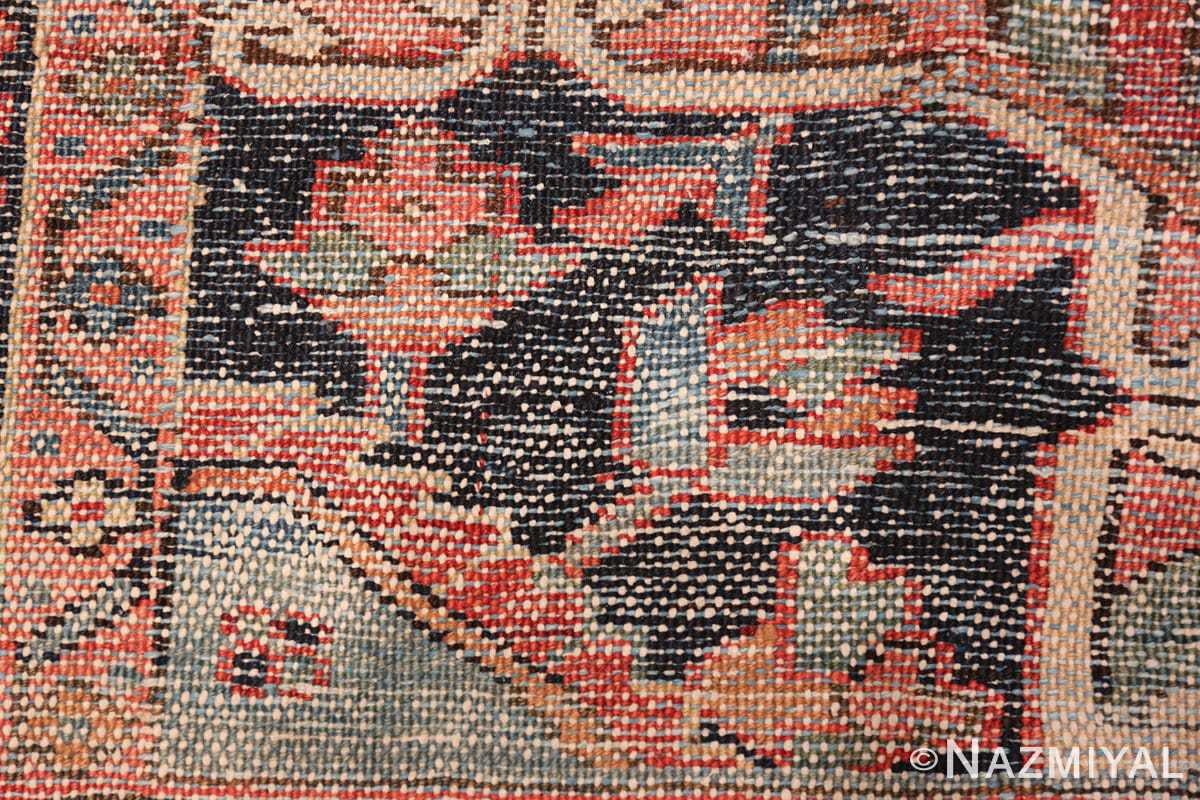 large antique geometric heriz persian rug 49654 knots Nazmiyal
