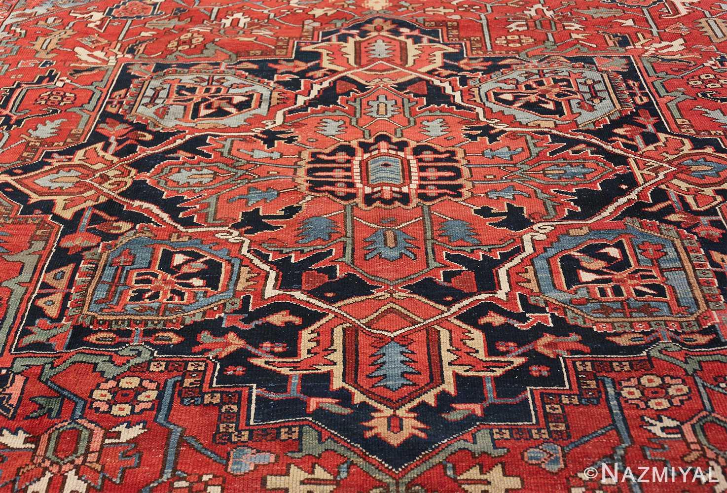 large antique geometric heriz persian rug 49654 medallion Nazmiyal