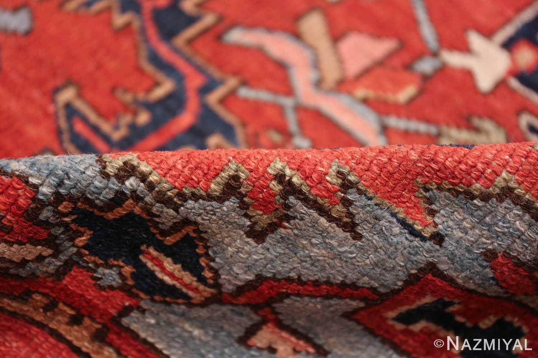 large antique geometric heriz persian rug 49654 pile Nazmiyal