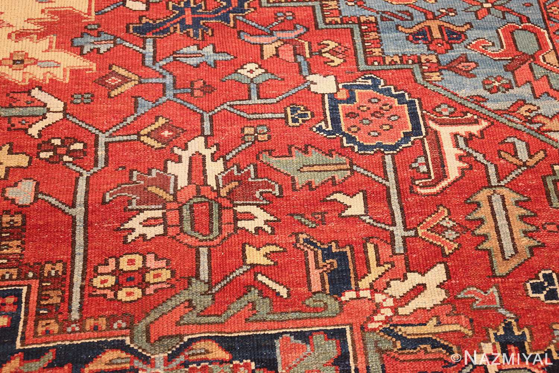 large antique geometric heriz persian rug 49654 scrolls Nazmiyal