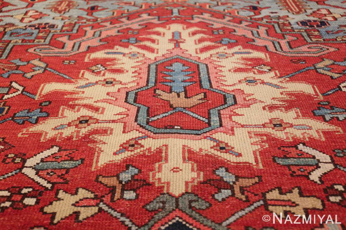 large antique geometric heriz persian rug 49654 tiara Nazmiyal
