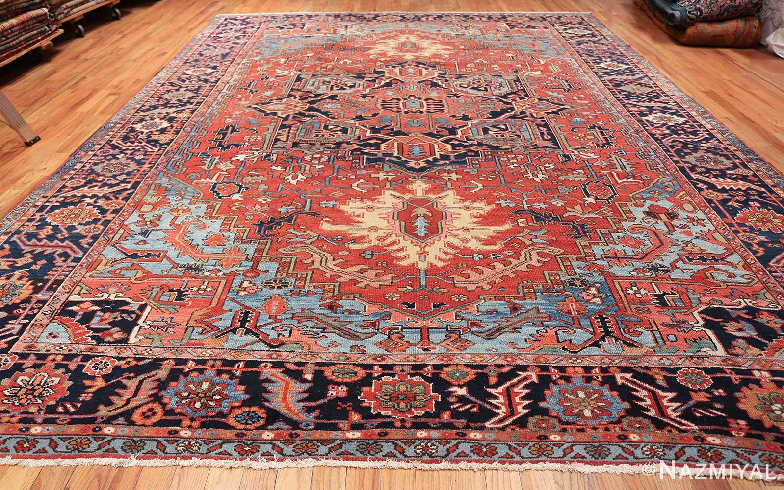 large antique geometric heriz persian rug 49654 whole Nazmiyal