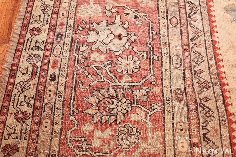 large ivory background antique oushak turkish rug 49658 border Nazmiyal