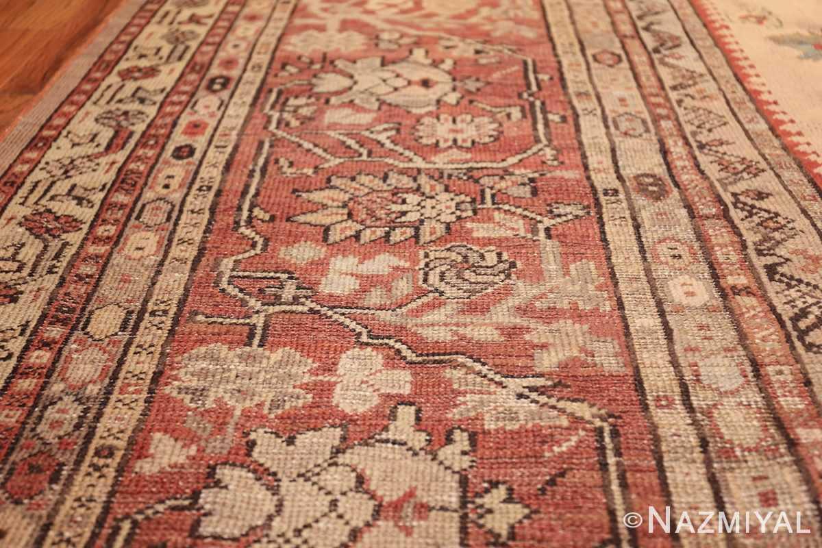 large ivory background antique oushak turkish rug 49658 lines Nazmiyal