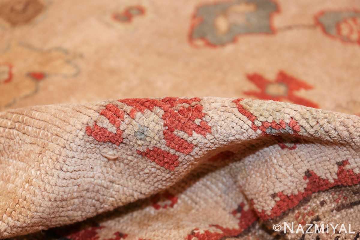 large ivory background antique oushak turkish rug 49658 pile Nazmiyal