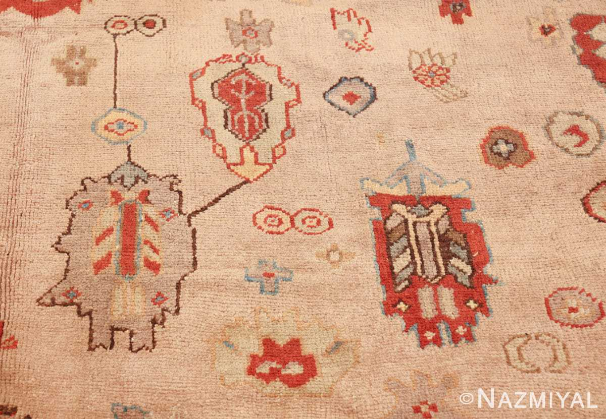 large ivory background antique oushak turkish rug 49658 trio Nazmiyal