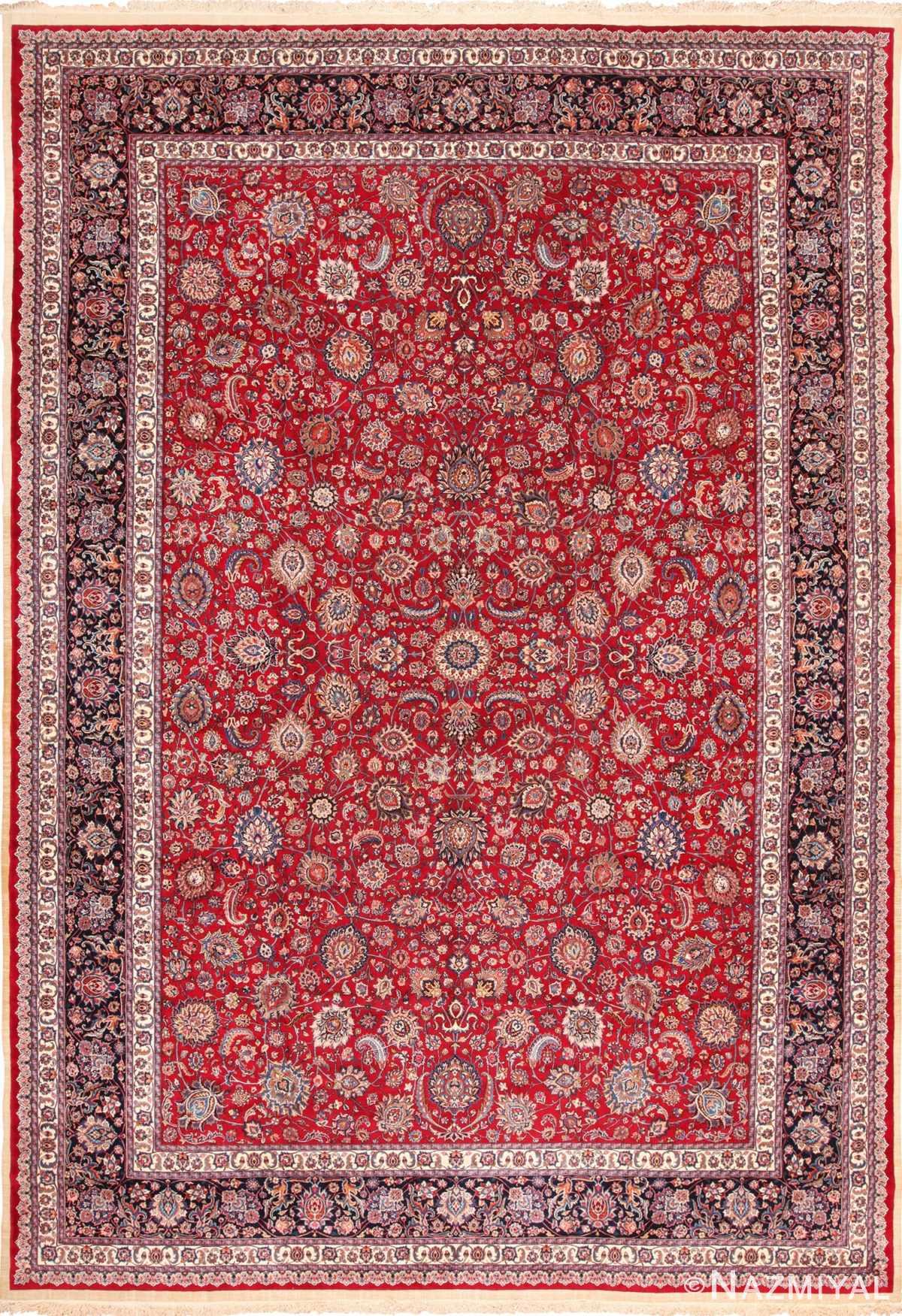 Large Silk and Wool Vintage Persian Khorassan Rug 60036 by Nazmiyal