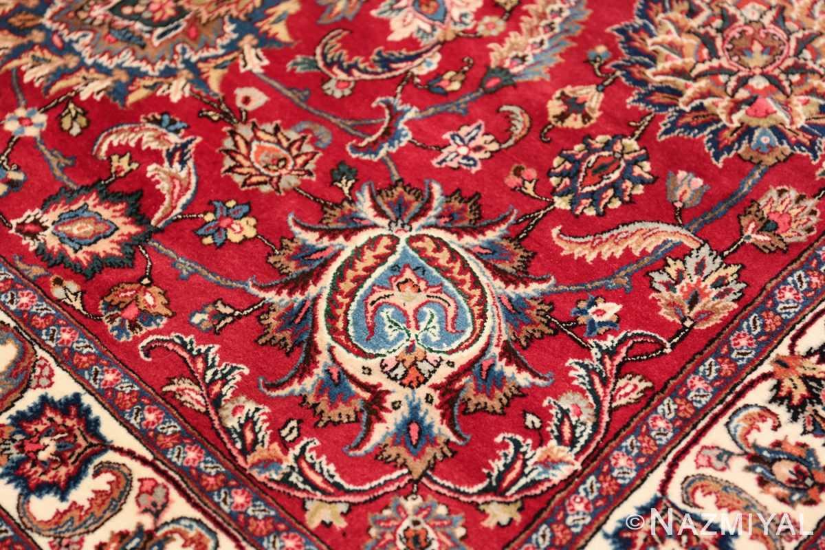 large silk and wool vintage khorassan persian rug 60036 blue Nazmiyal