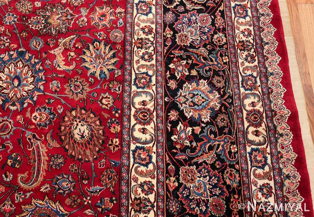 large silk and wool vintage khorassan persian rug 60036 border Nazmiyal