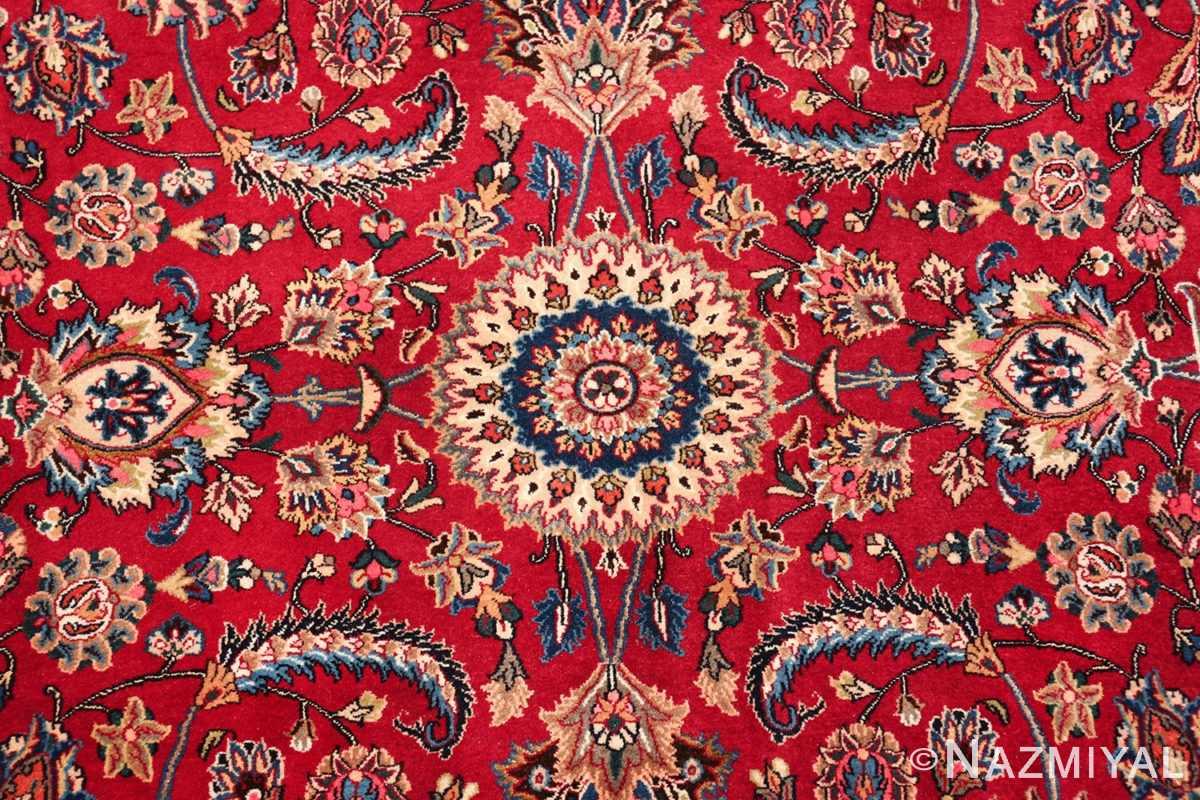 large silk and wool vintage khorassan persian rug 60036 center Nazmiyal