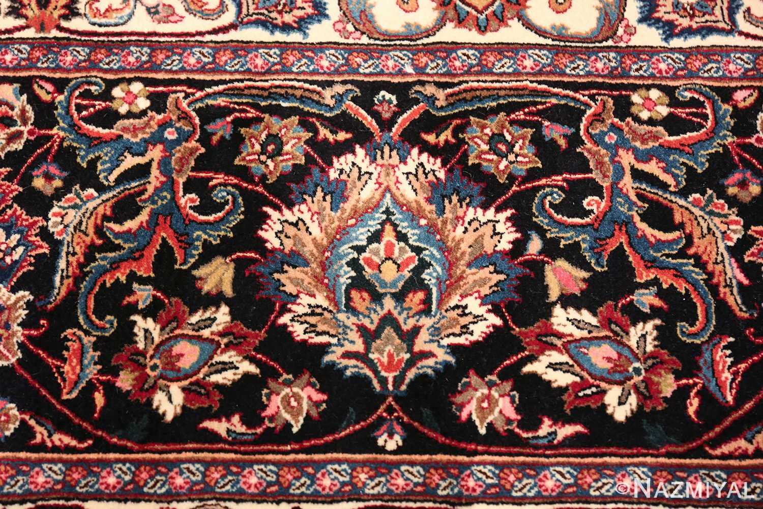 large silk and wool vintage khorassan persian rug 60036 design Nazmiyal