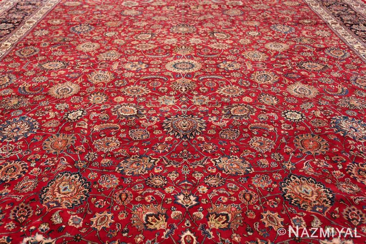large silk and wool vintage khorassan persian rug 60036 field Nazmiyal