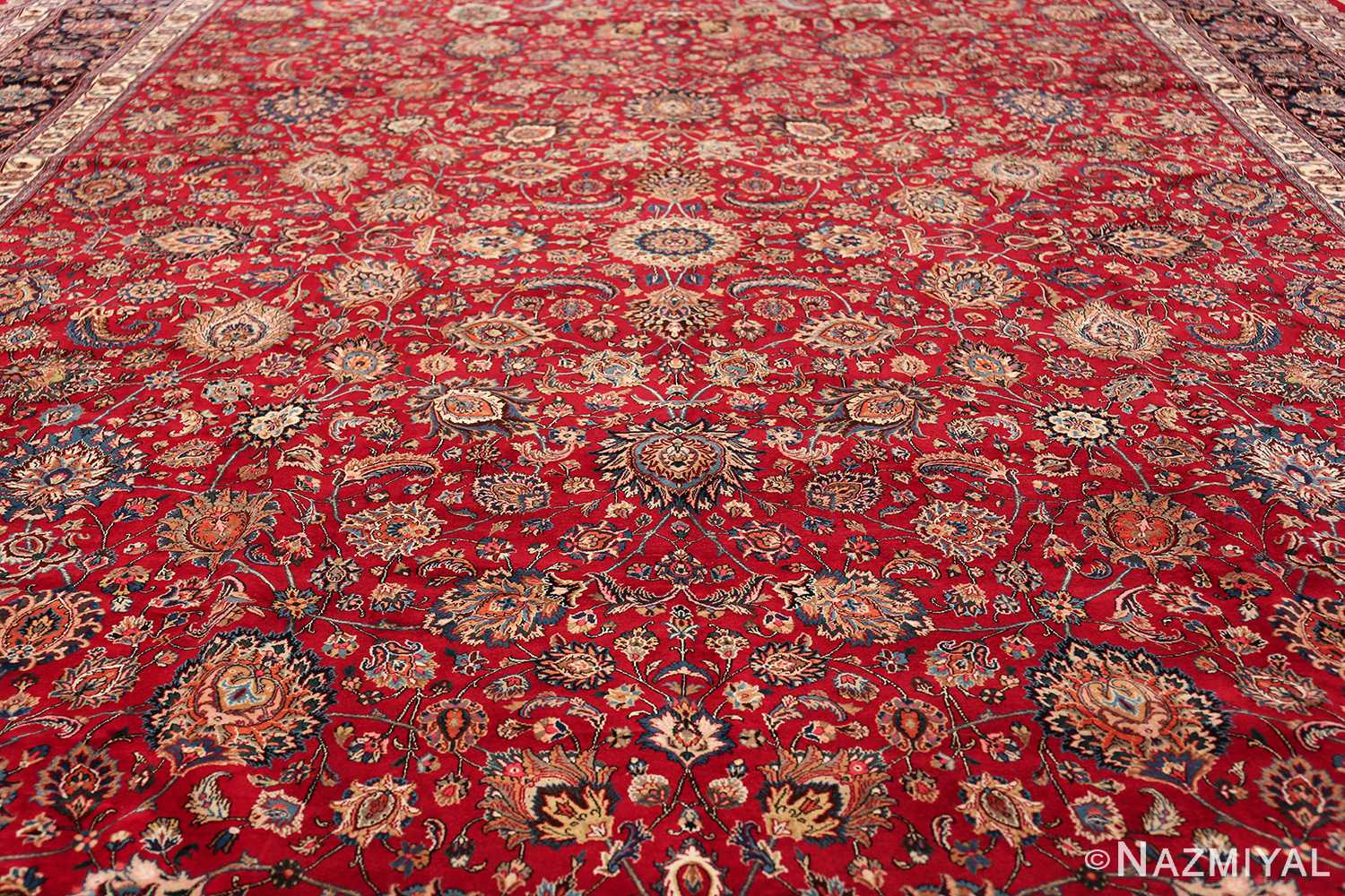 large silk and wool vintage khorassan persian rug 60036 field Nazmiyal