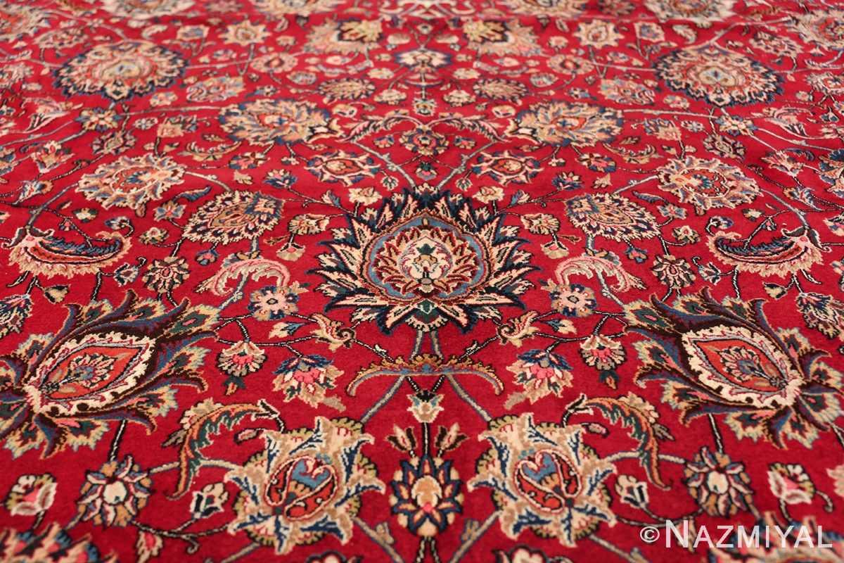 large silk and wool vintage khorassan persian rug 60036 flower Nazmiyal