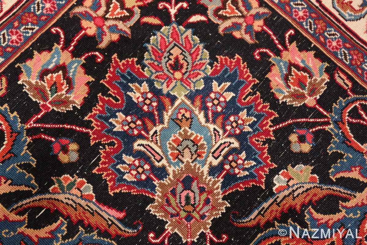 large silk and wool vintage khorassan persian rug 60036 knots Nazmiyal