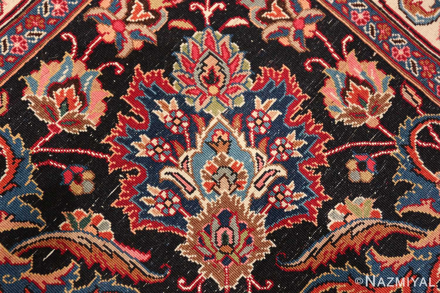 large silk and wool vintage khorassan persian rug 60036 knots Nazmiyal