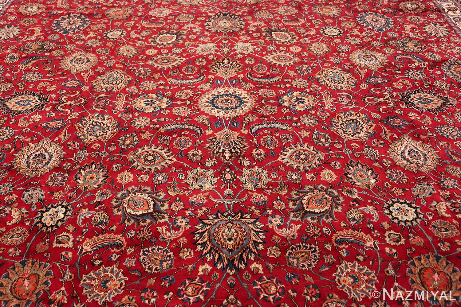 large silk and wool vintage khorassan persian rug 60036 middle Nazmiyal