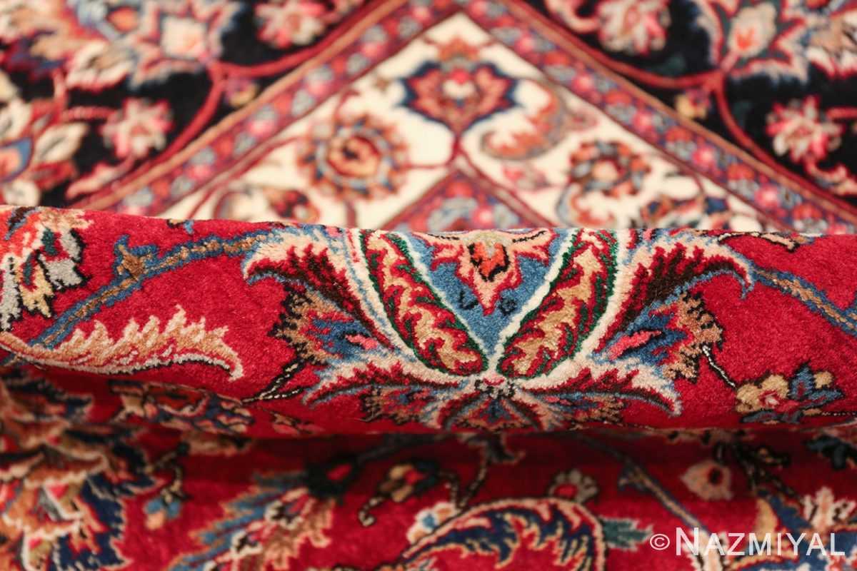 large silk and wool vintage khorassan persian rug 60036 pile Nazmiyal