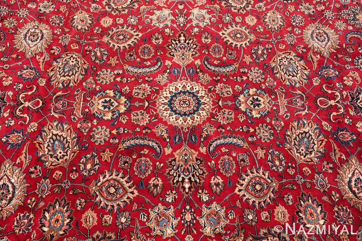 large silk and wool vintage khorassan persian rug 60036 round Nazmiyal