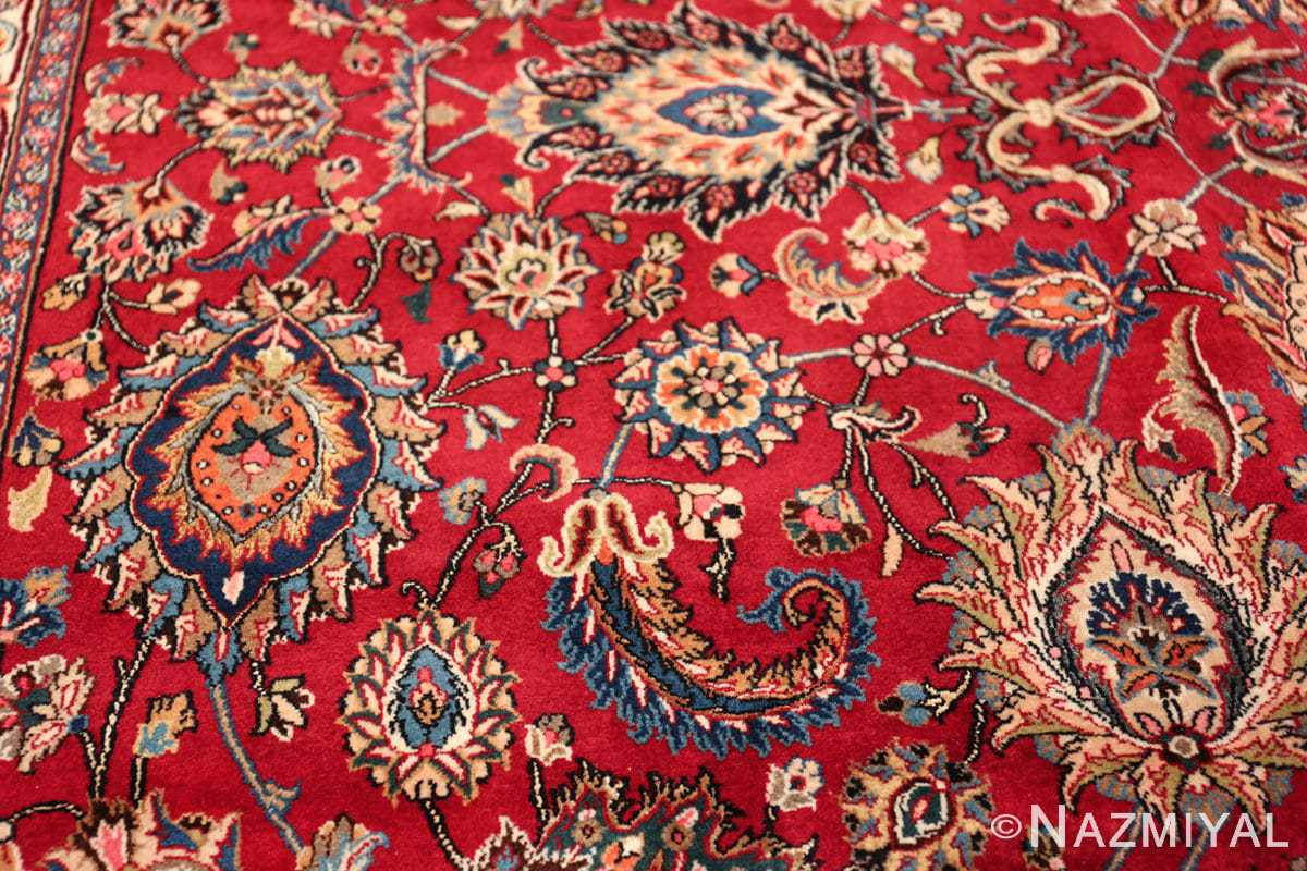 large silk and wool vintage khorassan persian rug 60036 side Nazmiyal
