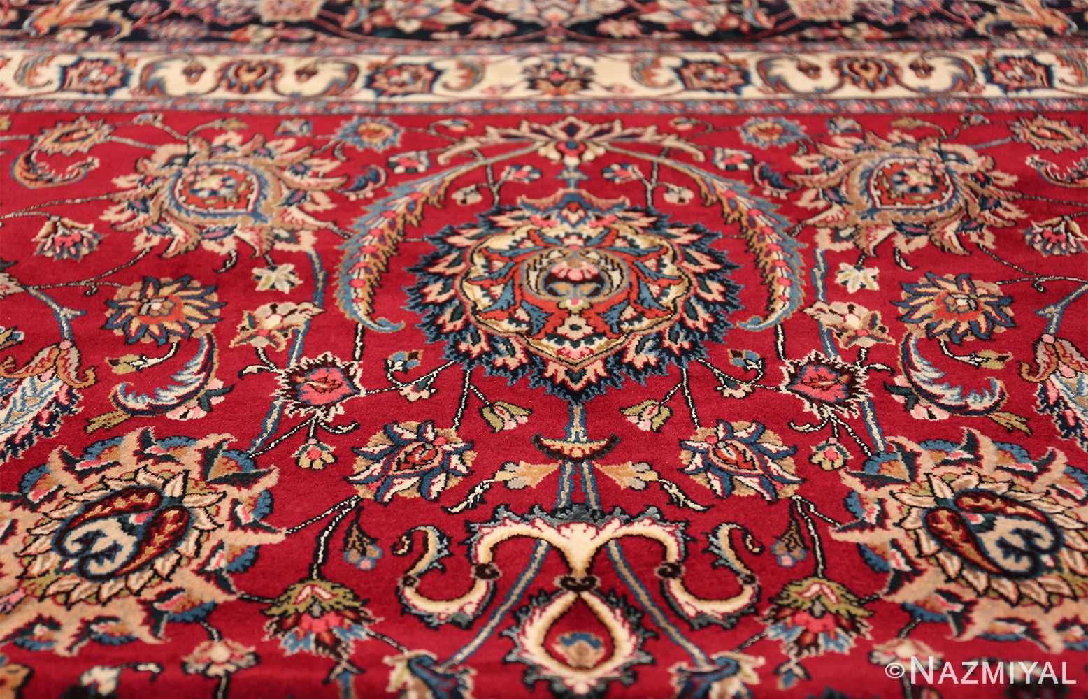 large silk and wool vintage khorassan persian rug 60036 top Nazmiyal