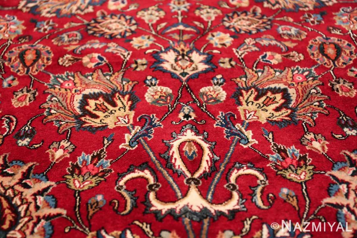 large silk and wool vintage khorassan persian rug 60036 vase Nazmiyal
