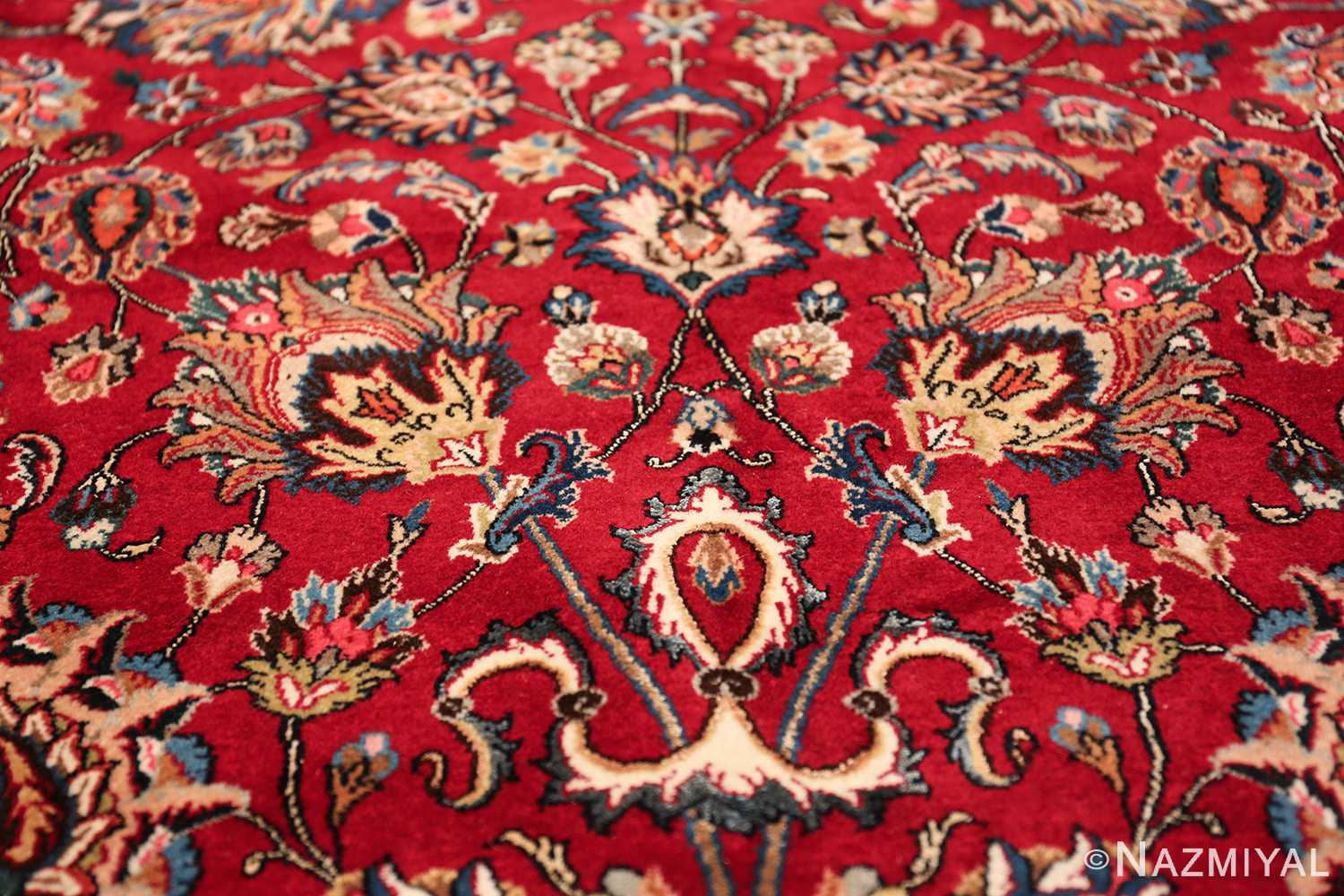 large silk and wool vintage khorassan persian rug 60036 vase Nazmiyal