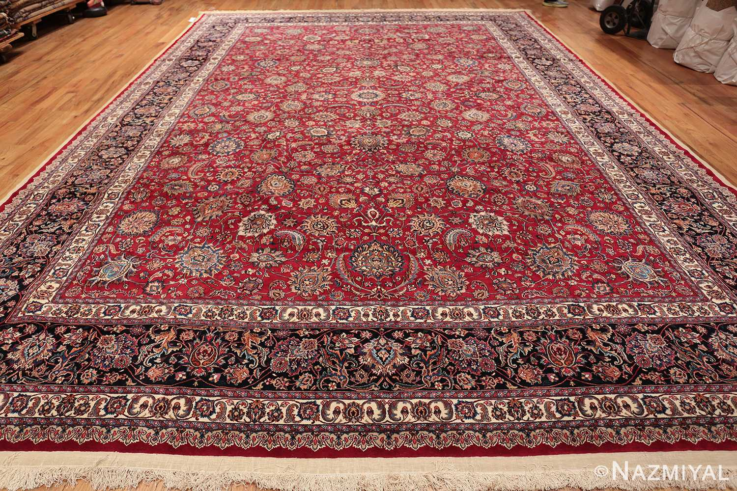large silk and wool vintage khorassan persian rug 60036 whole Nazmiyal