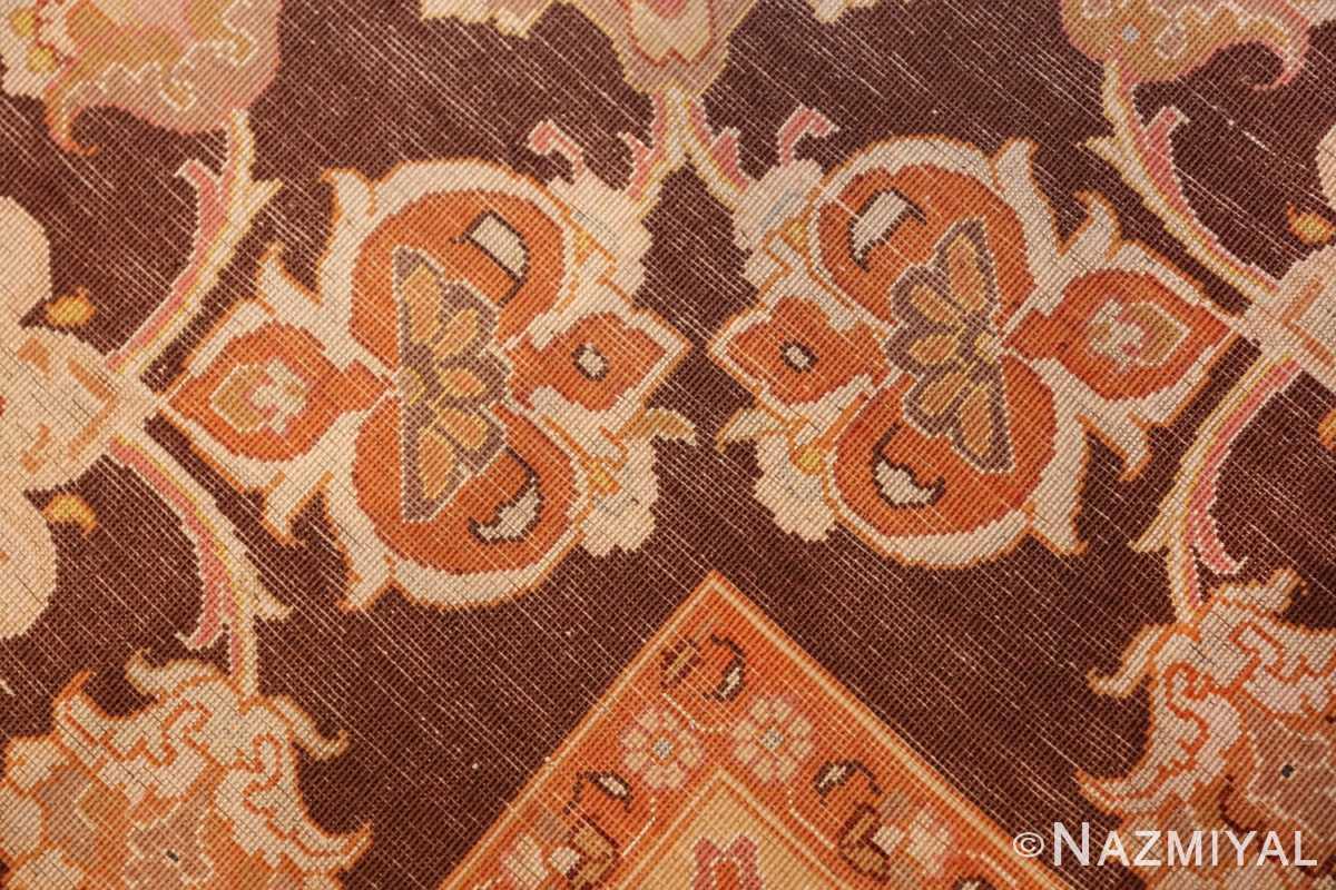 large silk and wool vintage tabriz persian rug 60014 knots Nazmiyal