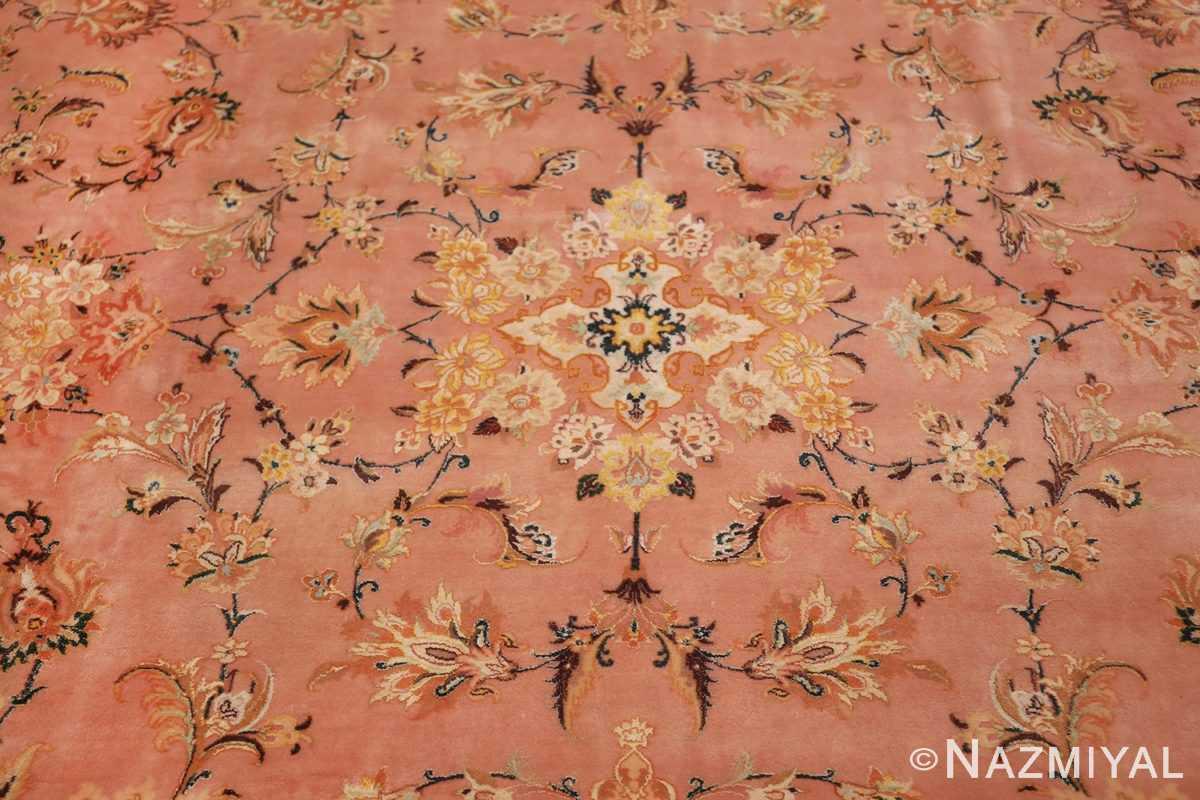 large silk and wool vintage tabriz persian rug 60014 medallion Nazmiyal