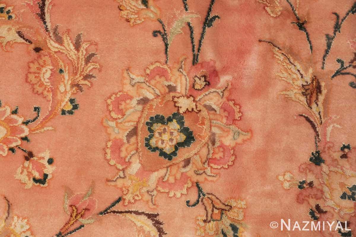 large silk and wool vintage tabriz persian rug 60014 raised Nazmiyal