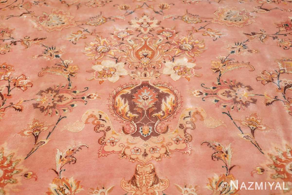 large silk and wool vintage tabriz persian rug 60014 vase Nazmiyal