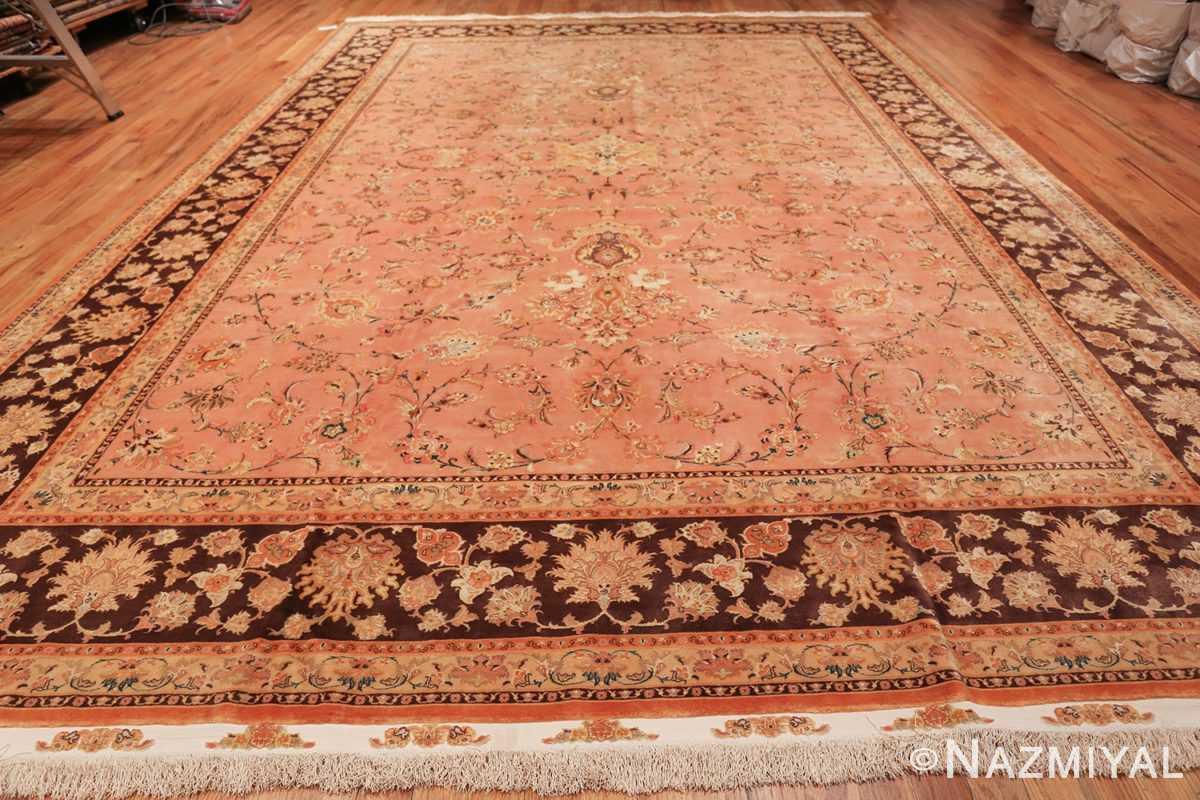 large silk and wool vintage tabriz persian rug 60014 whole Nazmiyal