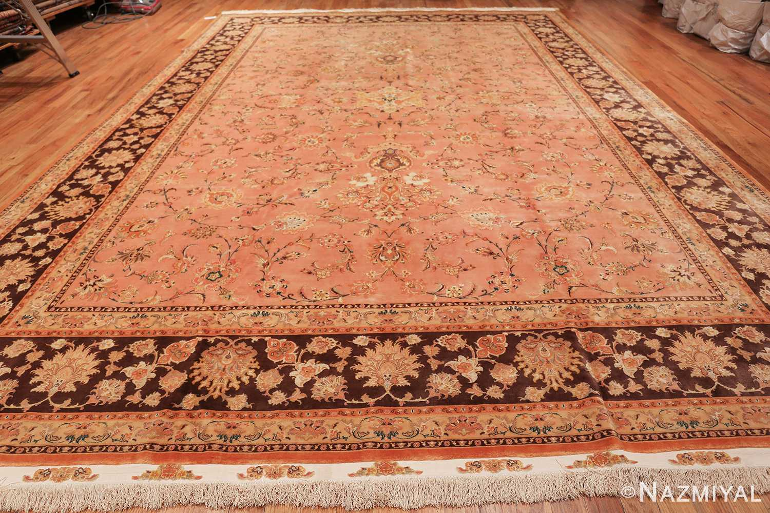 large silk and wool vintage tabriz persian rug 60014 whole Nazmiyal