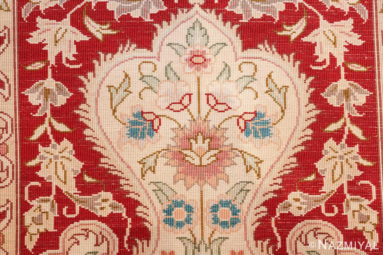 long and narrow silk vintage qum persian rug 49603 knots Nazmiyal