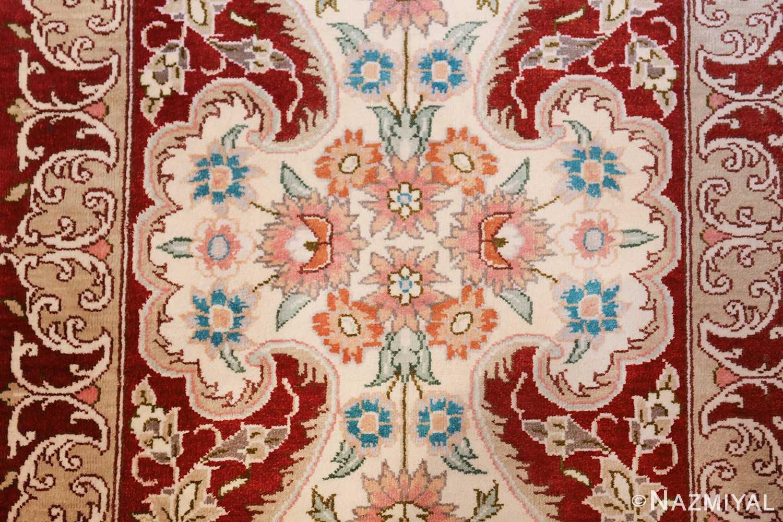 long and narrow silk vintage qum persian rug 49603 star Nazmiyal