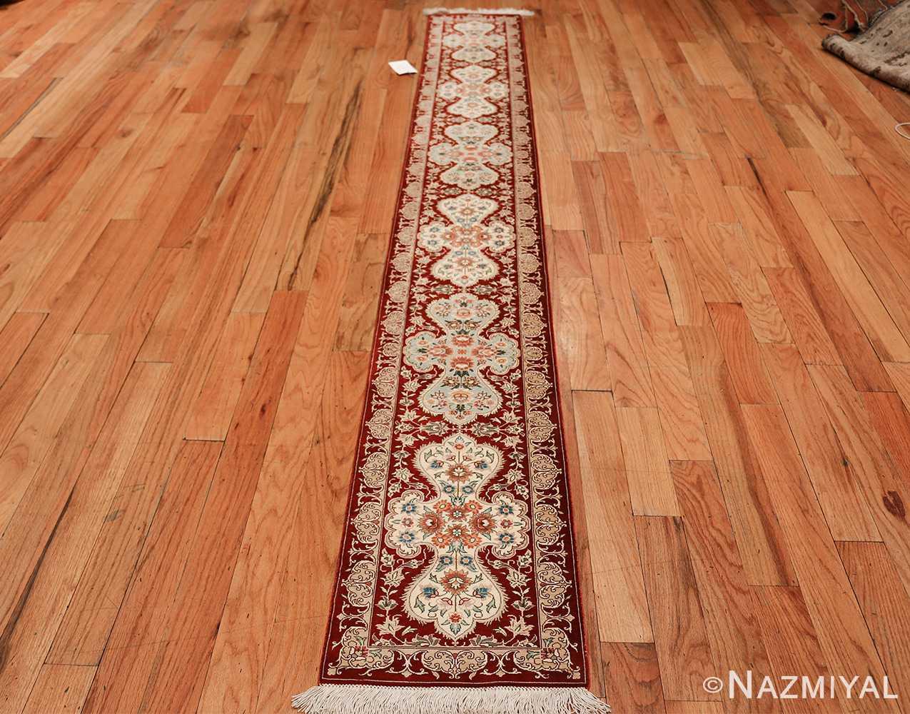 long and narrow silk vintage qum persian rug 49603 whole Nazmiyal