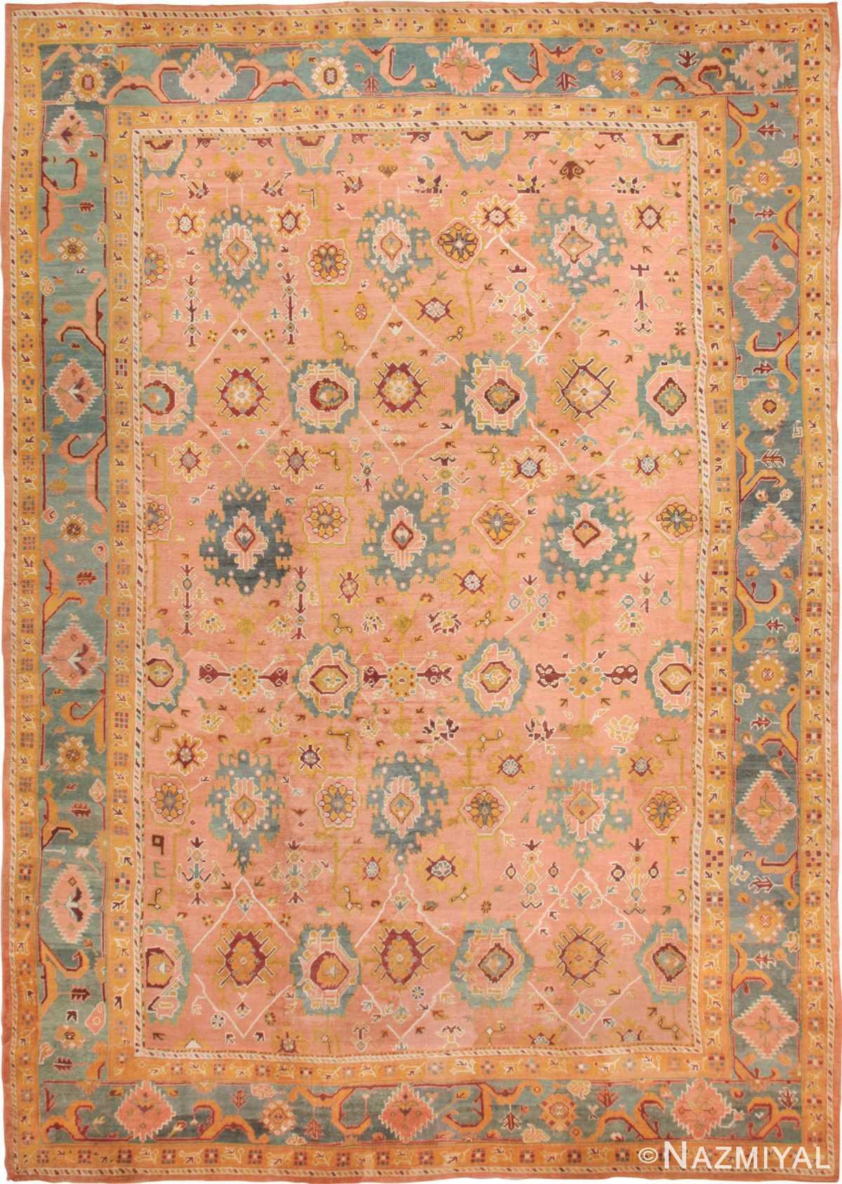Oversized Antique Arts and Crafts Turkish Oushak Rug 49637 by Nazmiyal