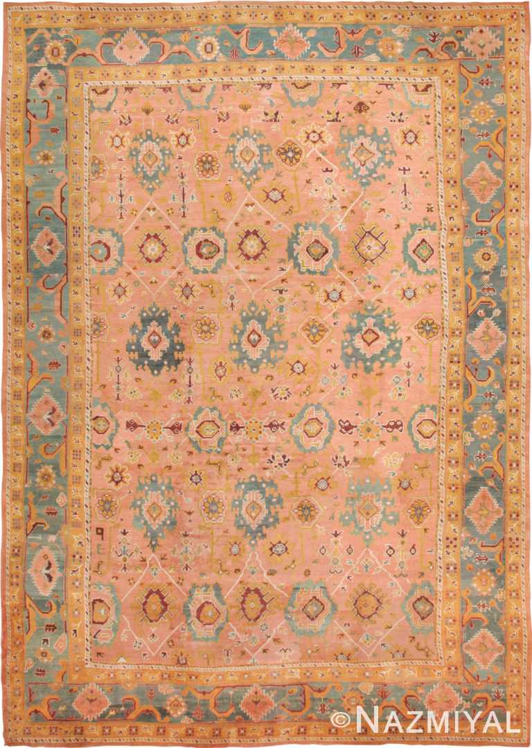 Oversized Antique Arts and Crafts Turkish Oushak Rug 49637 by Nazmiyal