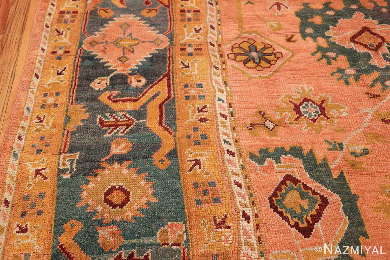 oversized antique oushak turkish rug 49637 border Nazmiyal