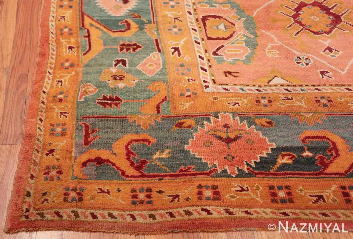 oversized antique oushak turkish rug 49637 corner Nazmiyal