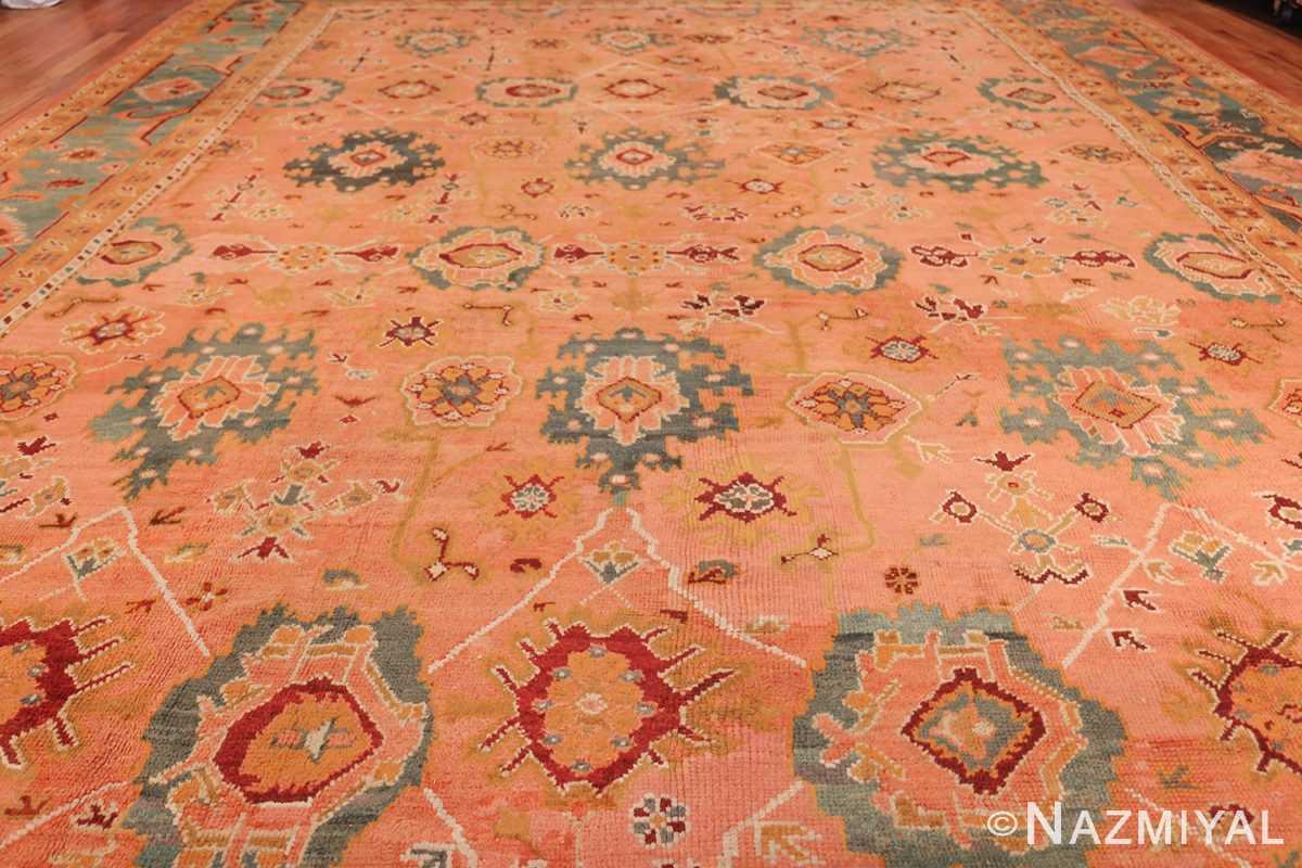 oversized antique oushak turkish rug 49637 field Nazmiyal